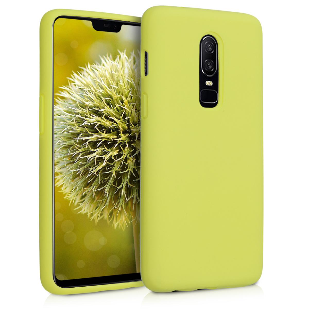 KW TPU Θήκη Σιλικόνης - OnePlus 6 - Neon Yellow (46122.49)