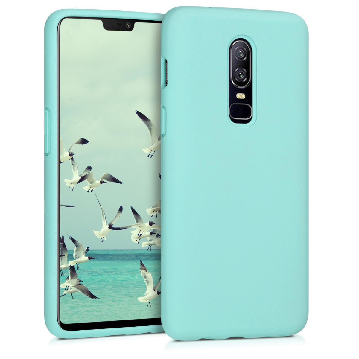 KW TPU Θήκη Σιλικόνης OnePlus 6 - Soft Flexible Rubber Protective Cover - Mint (46122.50)