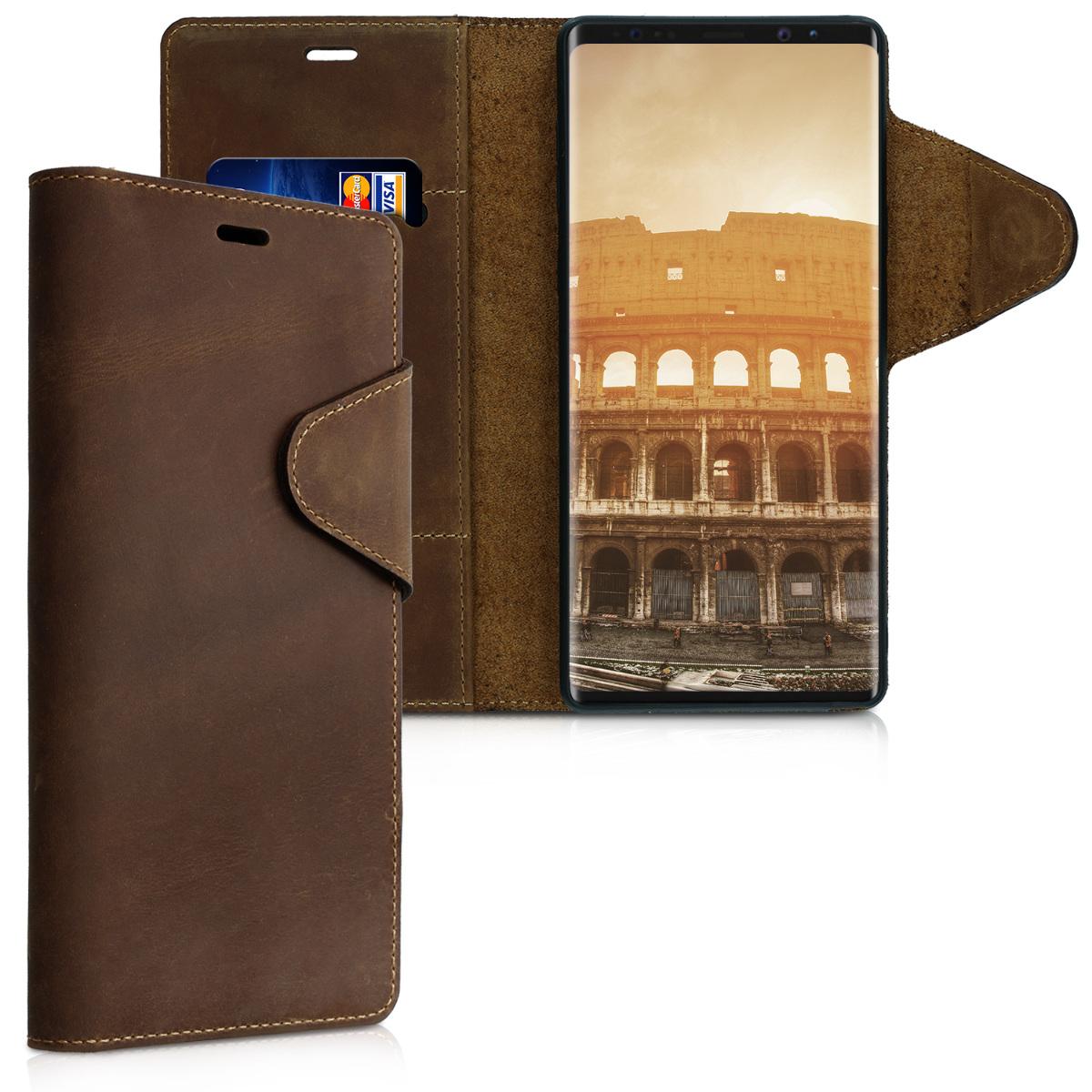 Kalibri Δερμάτινη Suede Θήκη - Πορτοφόλι Samsung Galaxy Note 9 - Brown (46126.05)