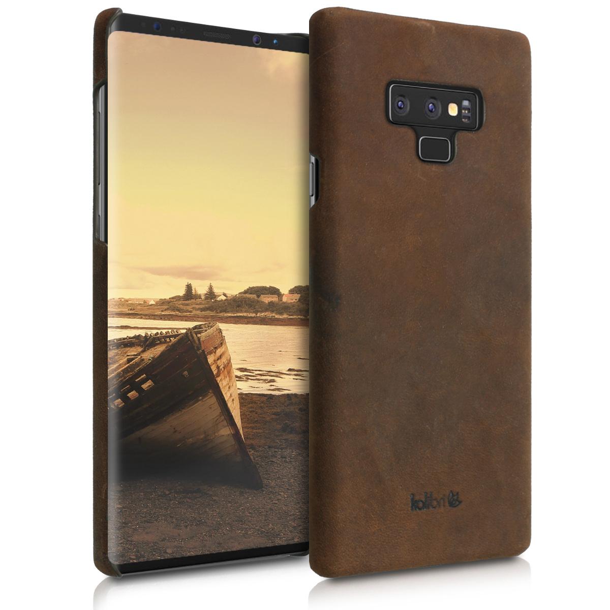 Kalibri Σκληρή Δερμάτινη Θήκη Samsung Galaxy Note 9 - Καφέ (46128.05)