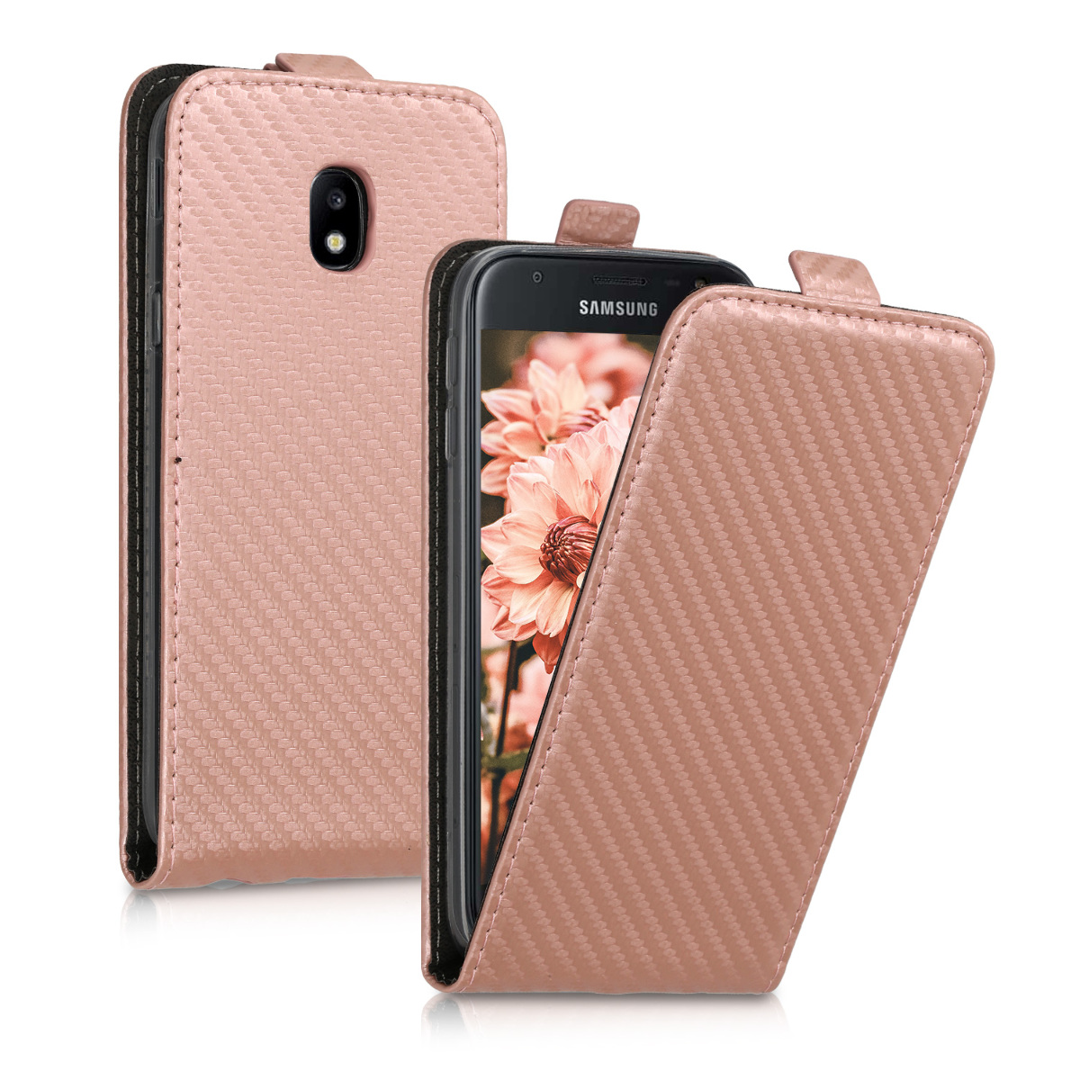 KW Flip Θήκη Samsung Galaxy J3 2017 - Rose Gold (46131.81)