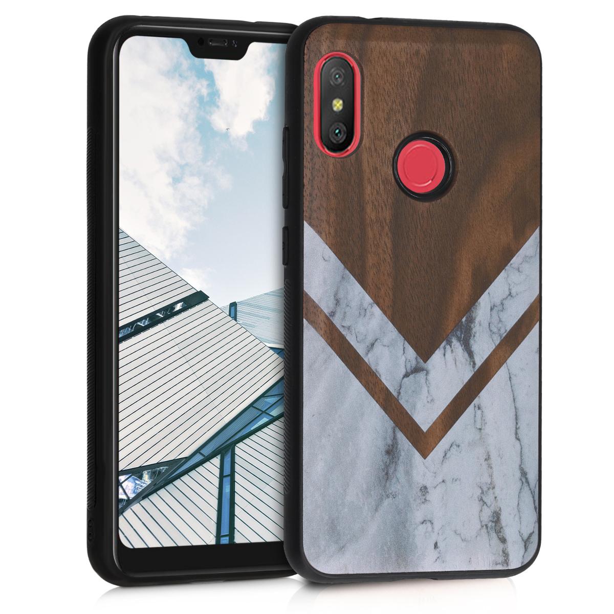 KW Ξύλινη Θήκη Xiaomi Redmi 6 Pro / Mi A2 Lite - Wood and Marble (46171.03)