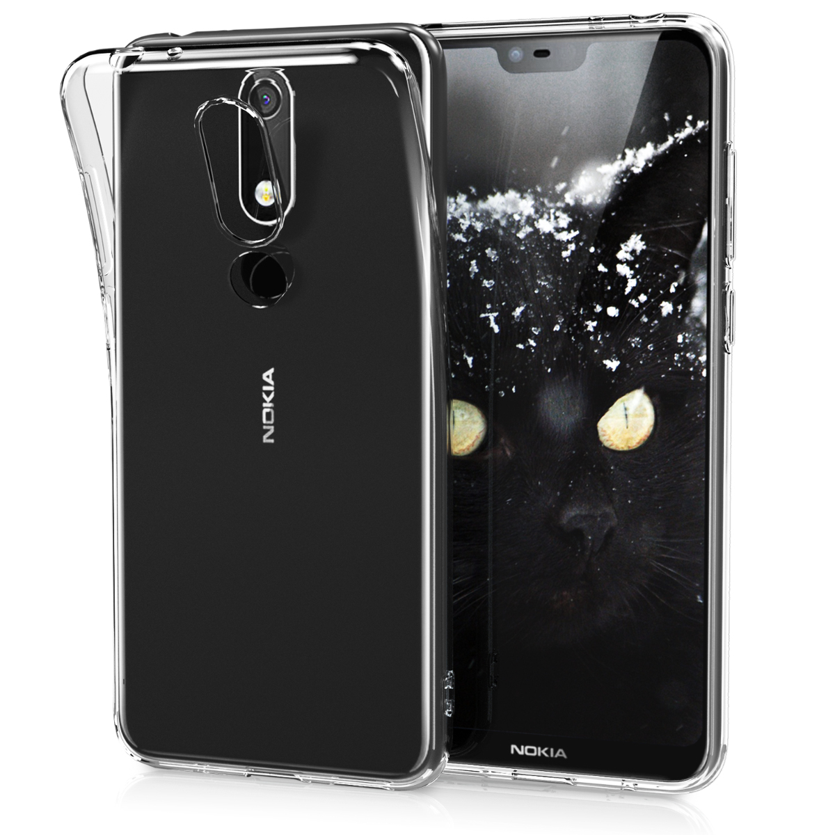 KW Διάφανη Θήκη Σιλικόνης Nokia 5.1 Plus (2018) - Transparent (46195.03)