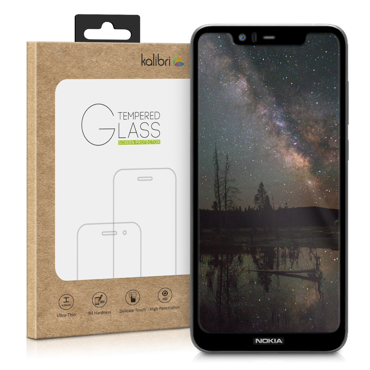 Kalibri Tempered Glass - Fullface Αντιχαρακτικό Γυαλί Οθόνης Nokia 5.1 Plus (46198.01)