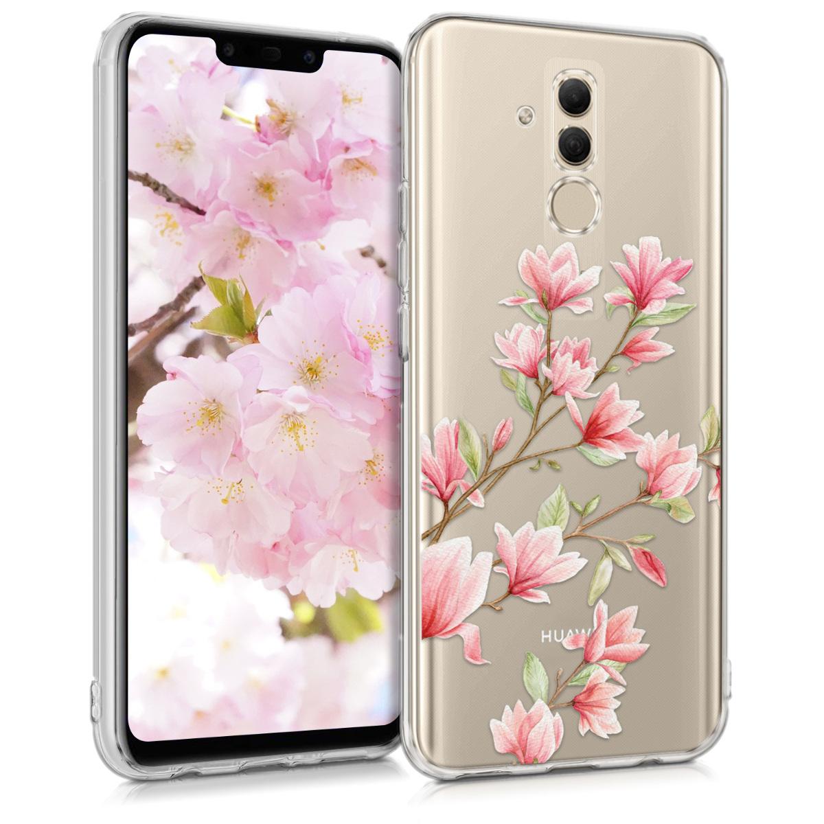 KW Θήκη Σιλικόνης Huawei Mate 20 Lite - Magnolias Pink White (46200.03)