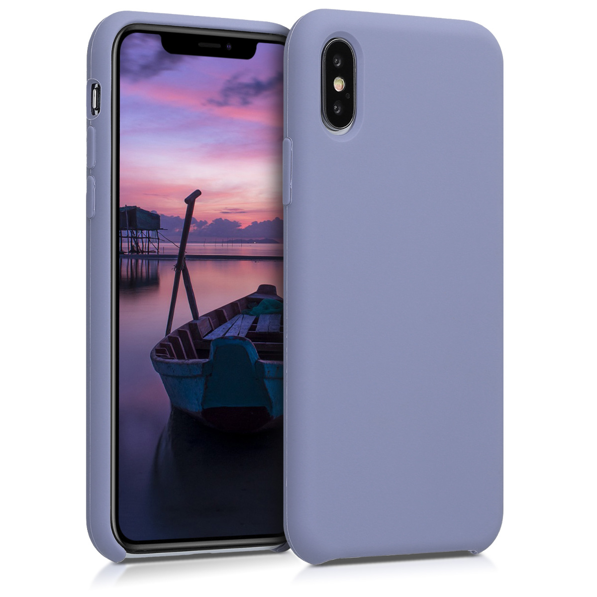 KW TPU Θήκη Σιλικόνης Apple iPhone XS - Soft Flexible Rubber Protective Cover - Lavender Grey (46313.130)