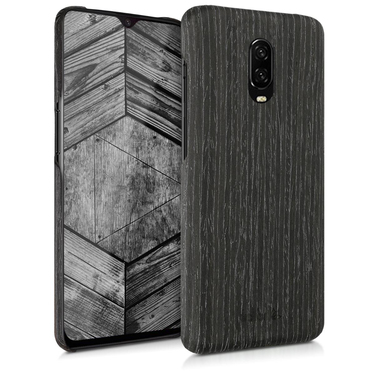 Kalibri Ξύλινη Θήκη OnePlus 6T - Ανθρακί  (46317.73)