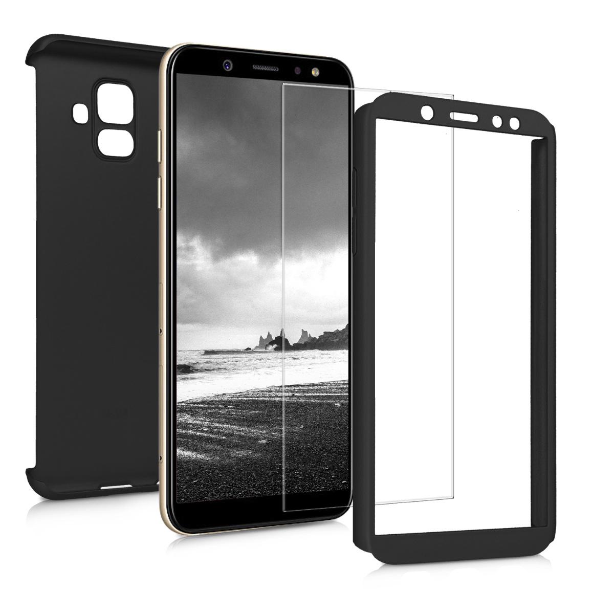 KW Θήκη Full Body with Screen Protector Samsung Galaxy A6 (2018)  - Metallic Black (46337.68)