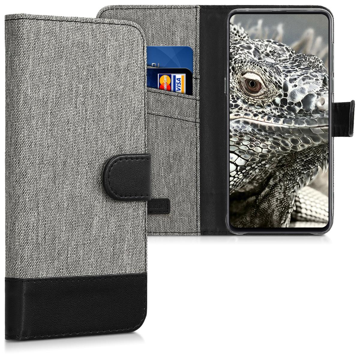 KW Θήκη Πορτοφόλι Xiaomi Mi Mix 3 - Grey / Black (46341.22)