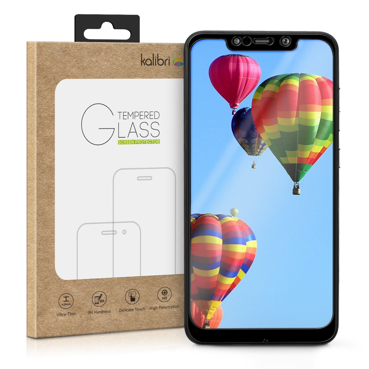 Kalibri Tempered Glass - Fullface Αντιχαρακτικό Γυαλί Οθόνης Xiaomi Pocophone F1 - Black (46369.01)