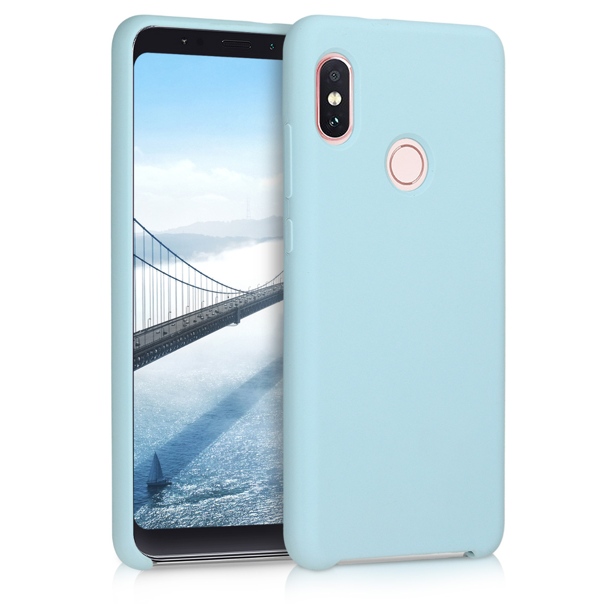 KW Θήκη Σιλικόνης Xiaomi Redmi Note 5 (Global Version) / Note 5 Pro - Soft Flexible Rubber Protective Cover - Light Blue Matte - (46380.58)