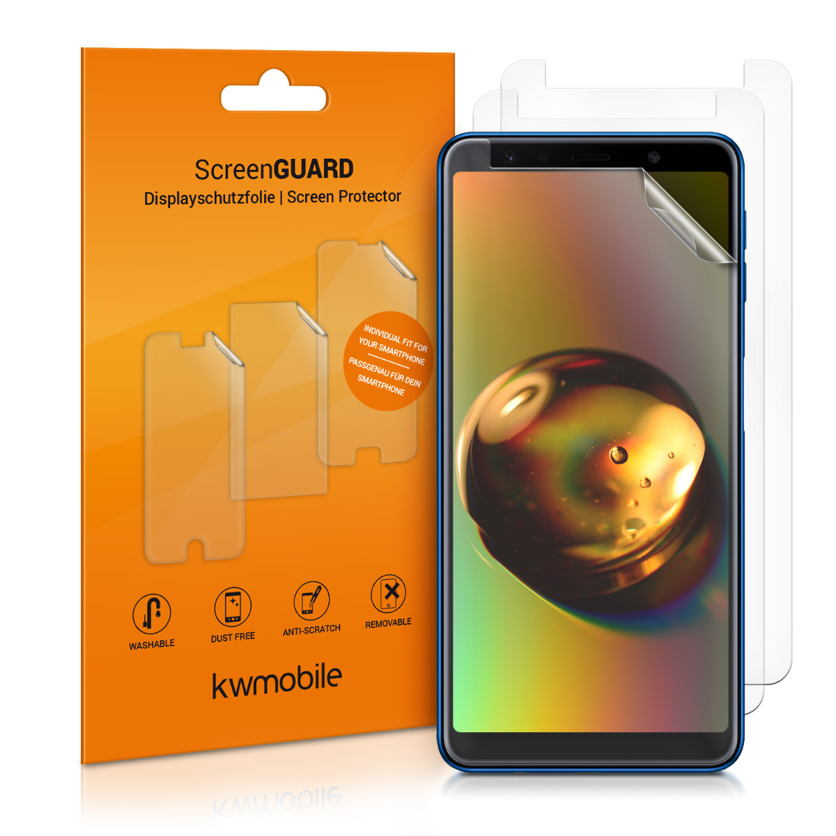 KW Μεμβράνη Προστασίας Οθόνης Samsung Galaxy A7 2018 - 3 τμχ (46424.1)