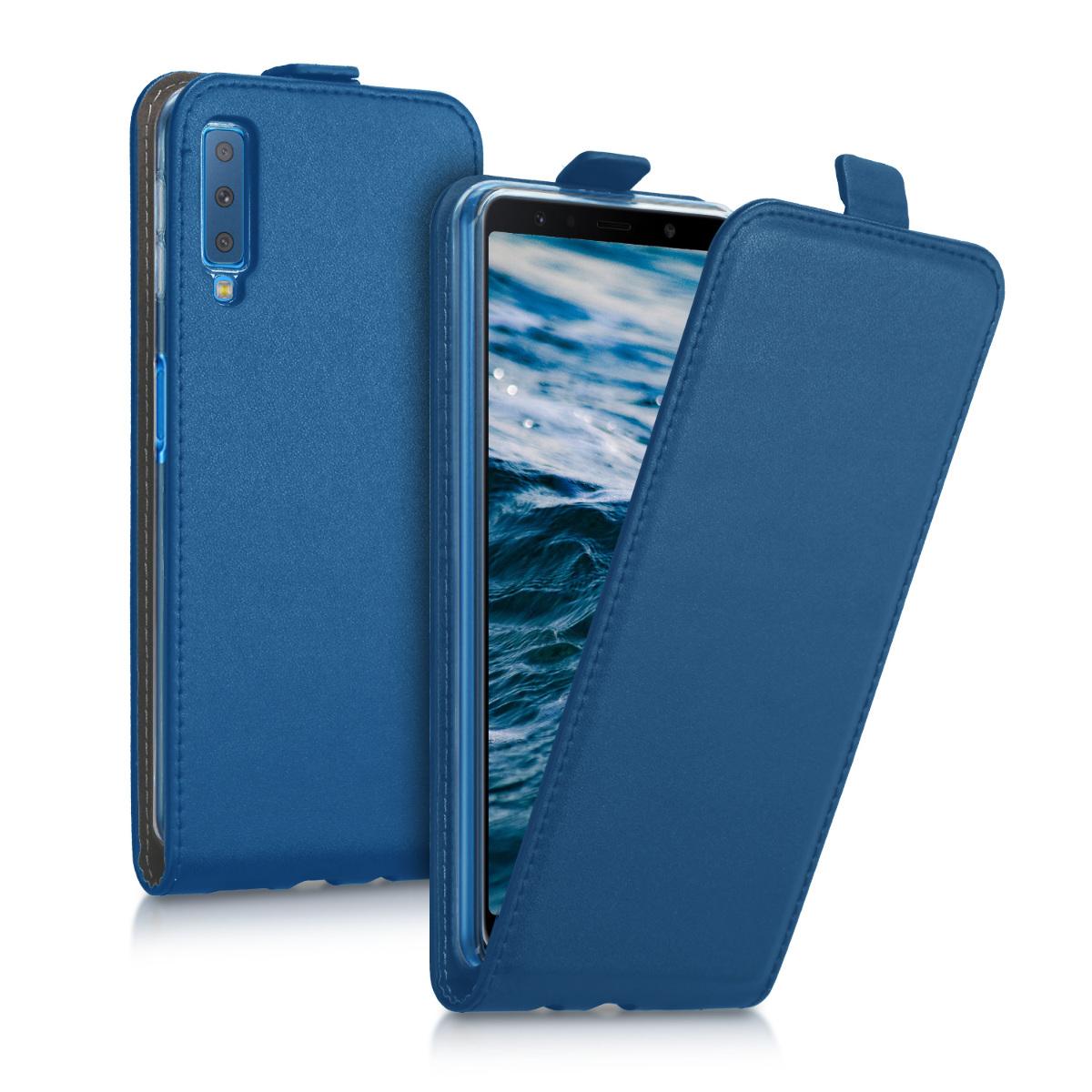 KW Flip Θήκη Samsung Galaxy A7 2018 - Dark Blue (46428.17)