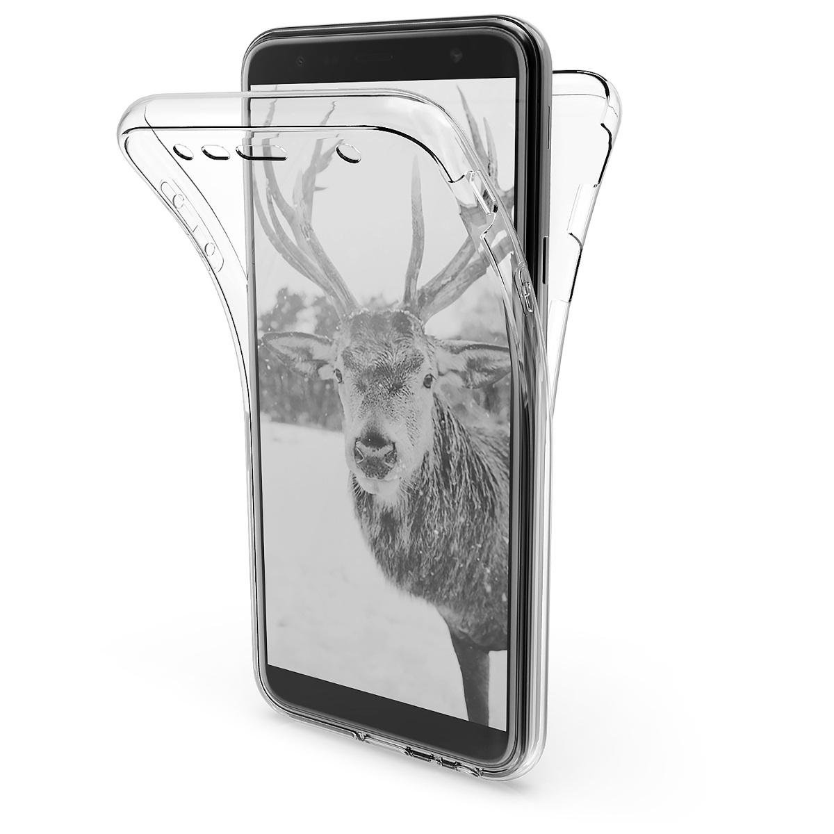 KW Θήκη Σιλικόνης Full Body Samsung Galaxy J4+ / J4 Plus DUOS  - Transparent (46432.03)