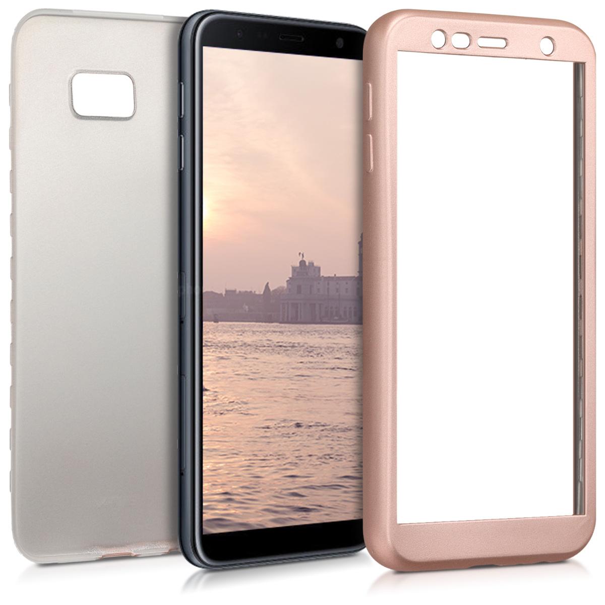 KW Θήκη Σιλικόνης Full Body Samsung Galaxy J4 Plus - Metallic Rose Gold - (46436.31)