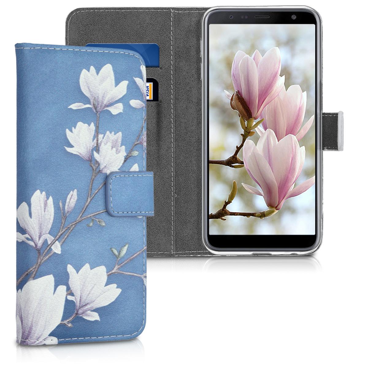 KW Θήκη - Πορτοφόλι Samsung Galaxy J6 Plus - Taupe / White / Blue Grey (46443.02)