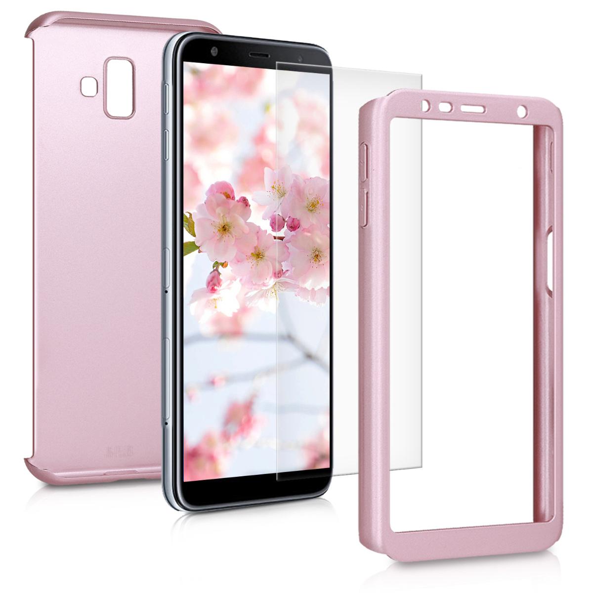 KW Θήκη Full Body with Screen Protector - Samsung Galaxy J6 Plus - Metallic Rose Gold (46445.31)