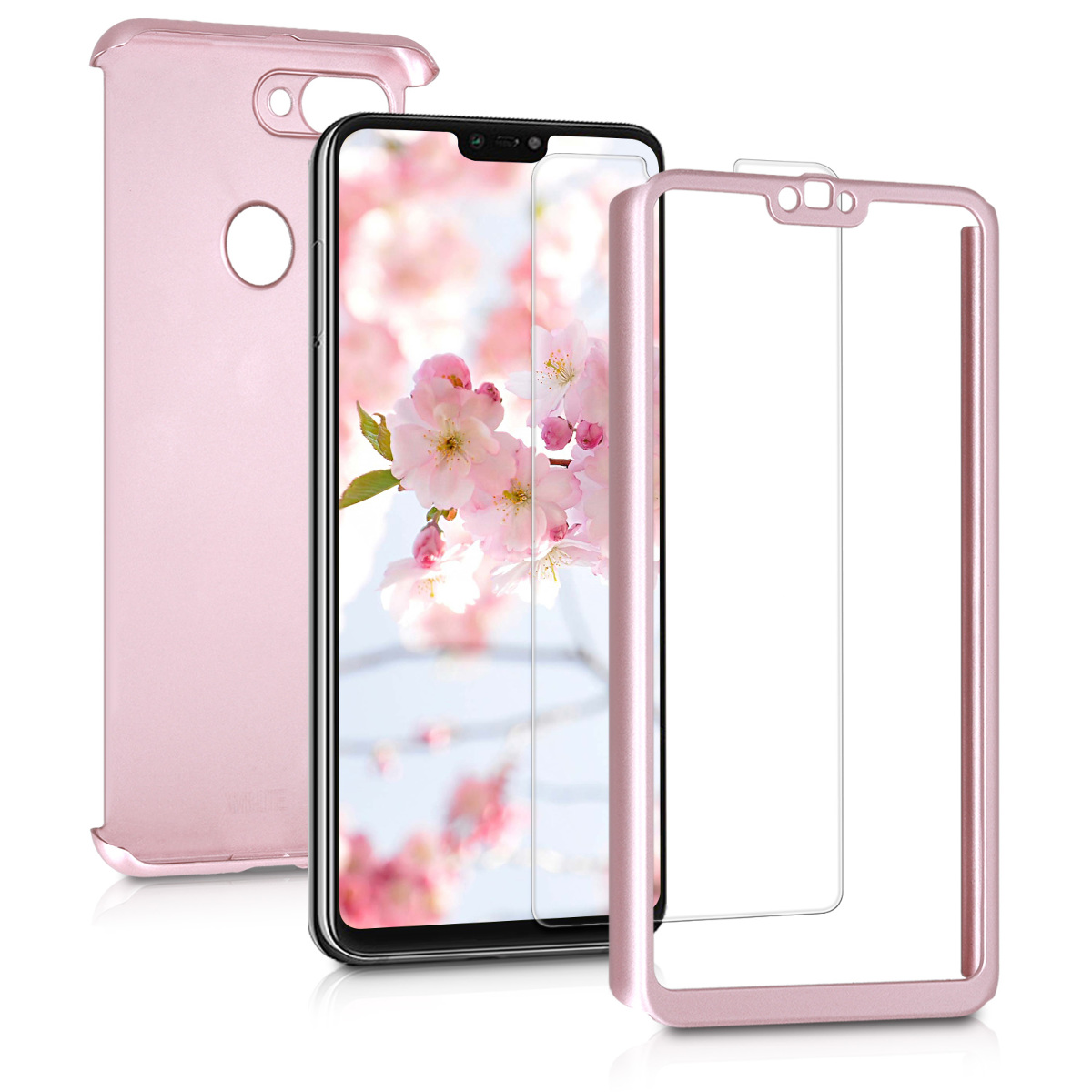 KW Θήκη Full Body Xiaomi Mi 8 Lite - Screen Protector - Metallic Rose Gold (46452.31)