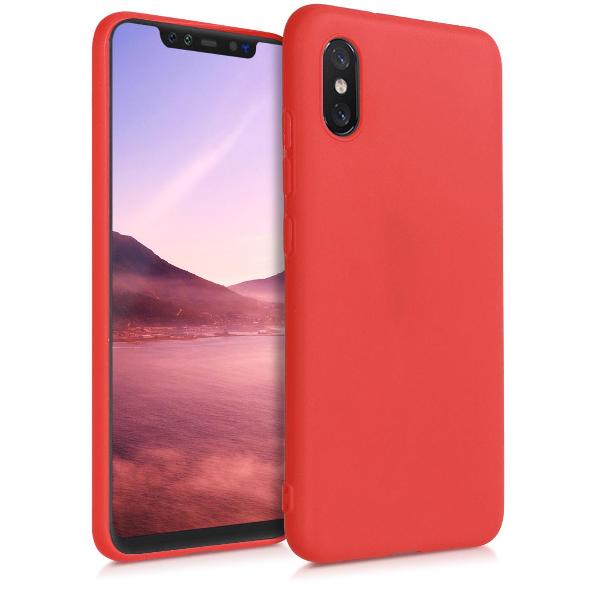 KW Θήκη Σιλικόνης Xiaomi Mi 8 Pro - Red Matte (46454.51)