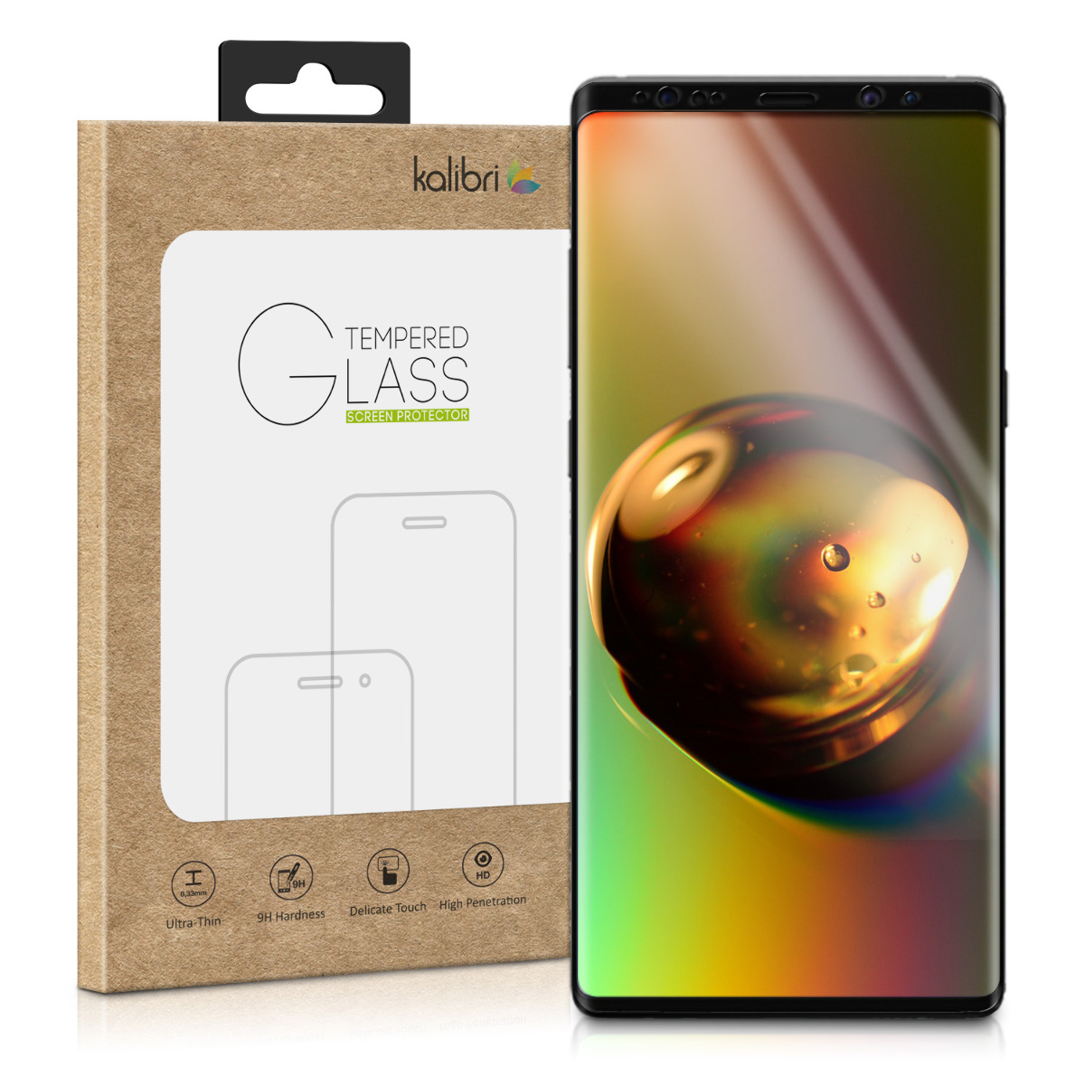 Kalibri Tempered Glass - Fullface Αντιχαρακτικό Γυαλί Οθόνης Samsung Galaxy Note 9 - Black Frame (46467.01)