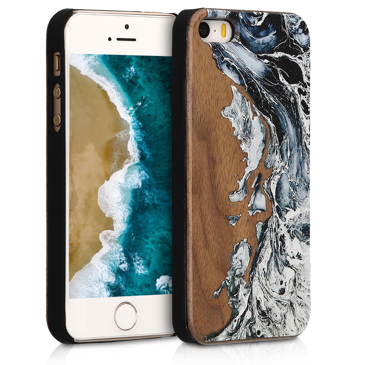 KW Σκληρή Ξύλινη Θήκη iPhone SE / 5 / 5S (46473.03)