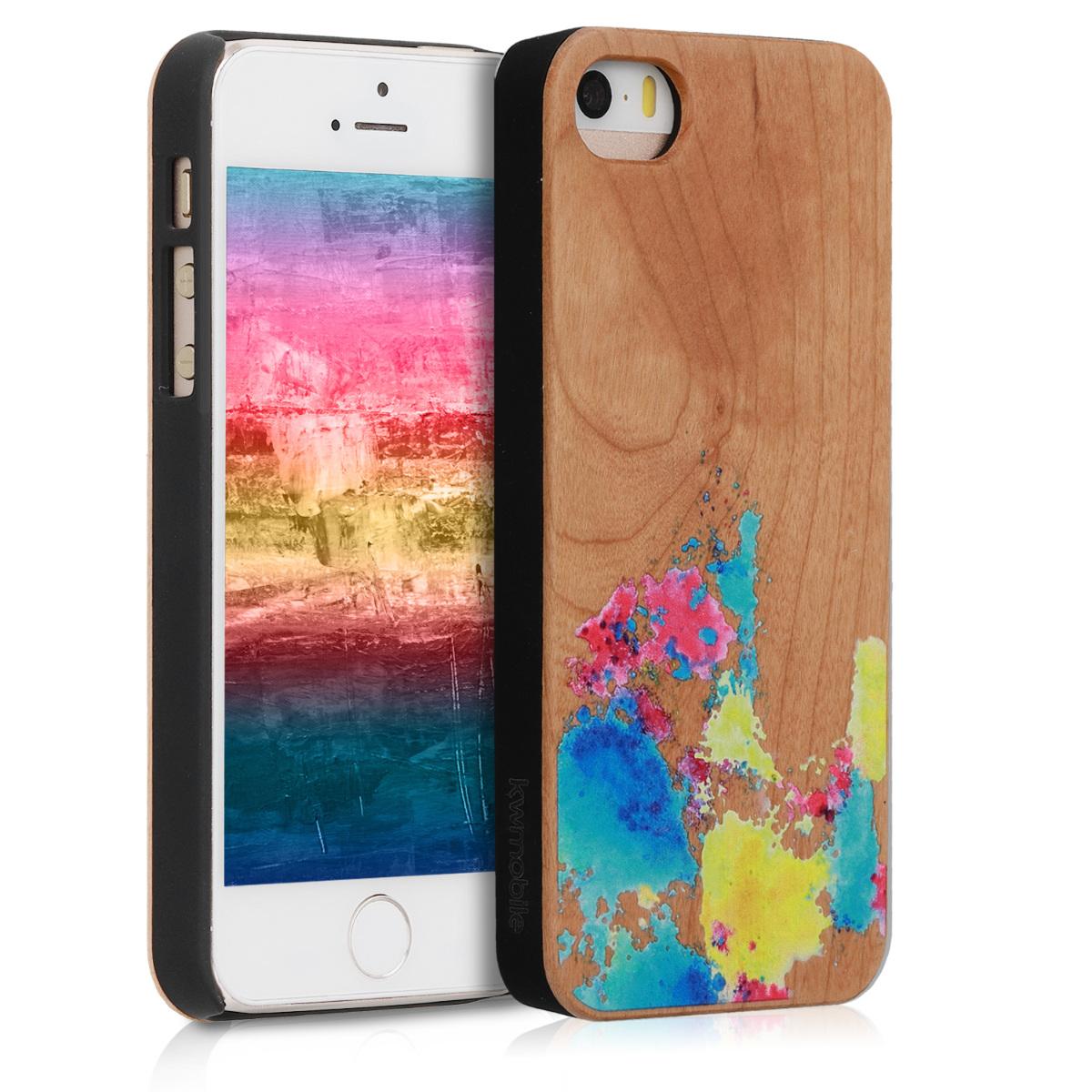KW Ξύλινη Θήκη iPhone SE / 5S / 5 - Πολύχρωμη (46473.05)