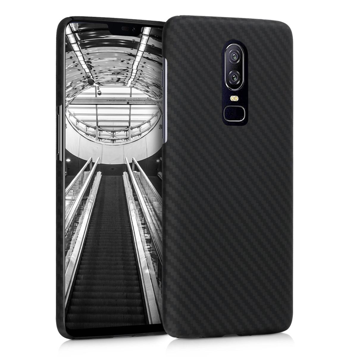 Kalibri Aramid Fiber Body - Σκληρή Θήκη OnePlus 6 - Black Matte (46474.47)