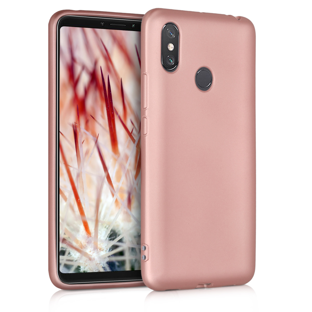KW Θήκη Σιλικόνης Xiaomi Mi Max 3 - Metallic Rose Gold (46501.31)