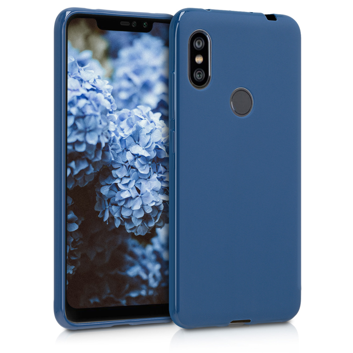 KW Θήκη Σιλικόνης Xiaomi Redmi Note 6 Pro - Soft Flexible Shock Absorbent  - Navy Blue (46506.116)