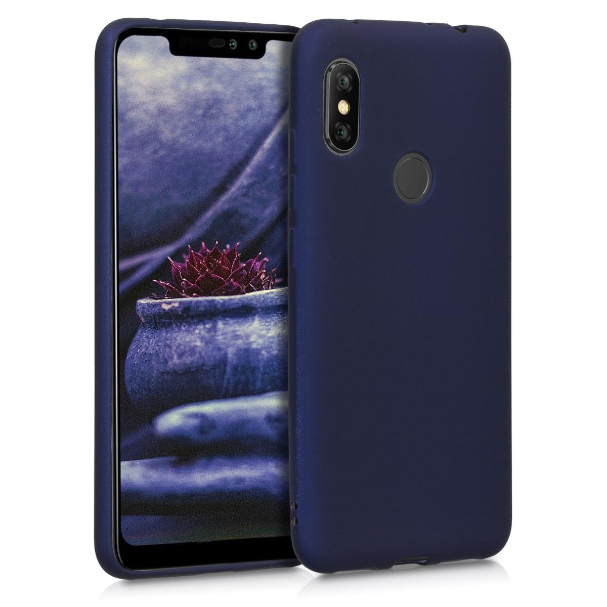 KW Θήκη Σιλικόνης  Xiaomi Redmi Note 6 Pro - Metallic Blue (46508.64)