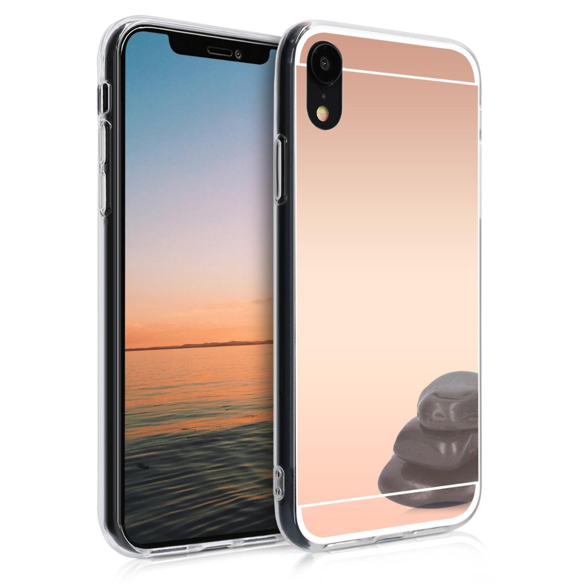 KW Θήκη Σιλικόνης (TPU) με Καθρέφτη iPhone XR - Metallic Rose Gold (46552.31)