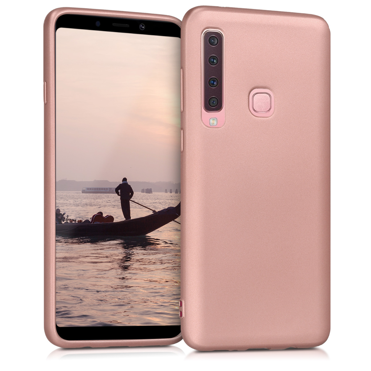 KW Θήκη Σιλικόνης (TPU) Samsung Galaxy A9 (2018) - Metallic Rose Gold (46584.31)
