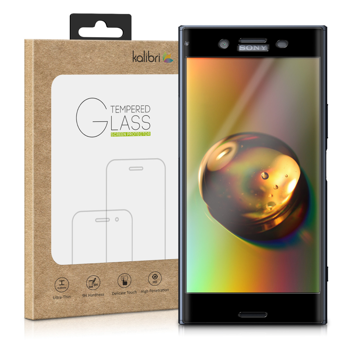 Kalibri Tempered Glass - Fullface Αντιχαρακτικό Γυαλί Οθόνης Sony Xperia XZ Premium (46619.1)