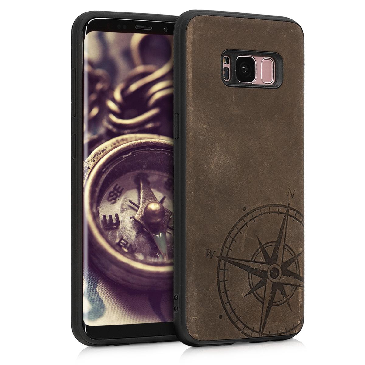 Kalibri Δερμάτινη Θήκη Samsung Galaxy S8 - Brown (46627.01)