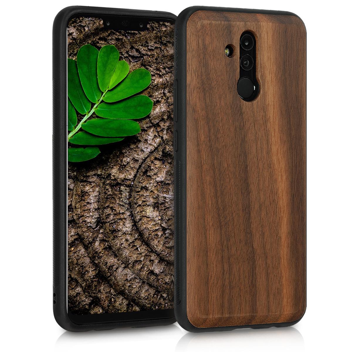 KW Σκληρή Ξύλινη Θήκη Huawei Mate 20 Lite - Dark Brown (46636.18)