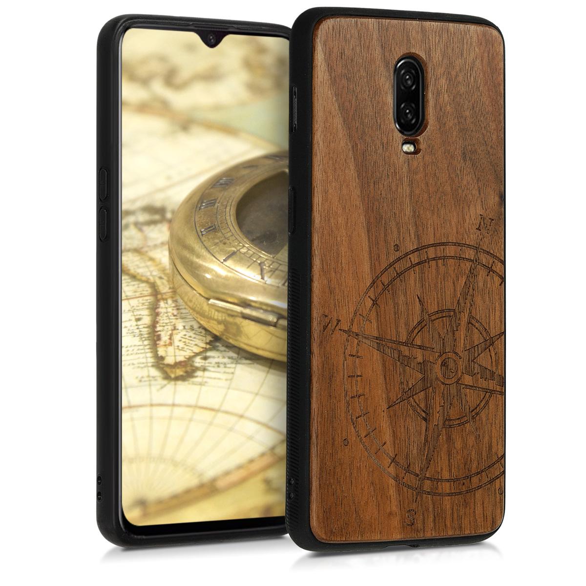 KW Ξύλινη Θήκη OnePlus 6T - Navigational Compass (46663.01)
