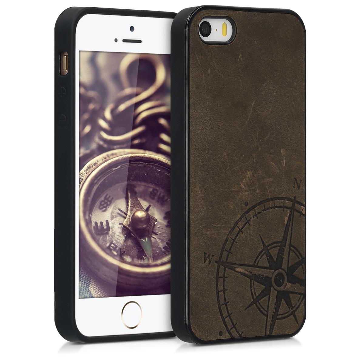 Kalibri Δερμάτινη Θήκη iPhone SE / 5 / 5S - Brown (46670.01)