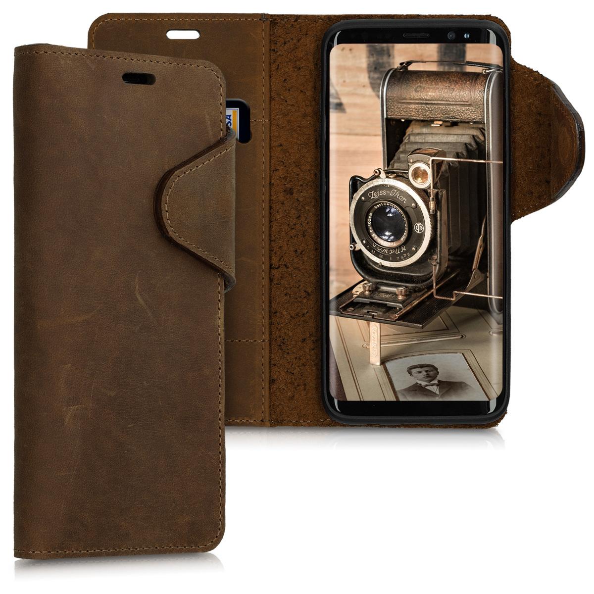 Kalibri Δερμάτινη Θήκη - πορτοφόλι Samsung Galaxy S8 - Brown (46744.05)