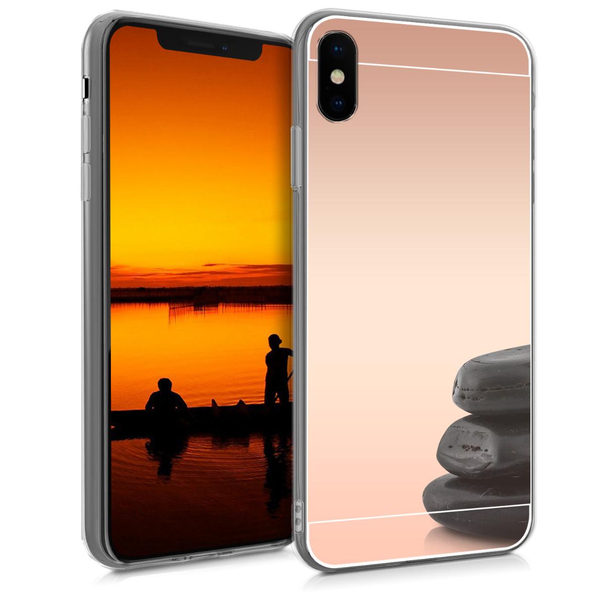 KW Θήκη Σιλικόνης (TPU) με Καθρέφτη iPhone XS Max - Rose Gold Reflective (46745.81)