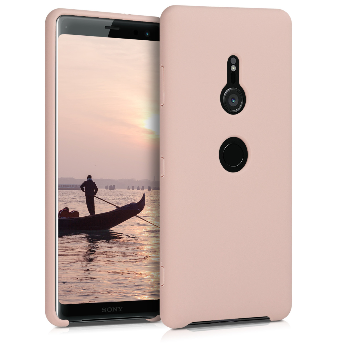KW TPU Θήκη Σιλικόνης Sony Xperia XZ3 - Soft Flexible Rubber Protective Cover - Antique Pink (46778.10)