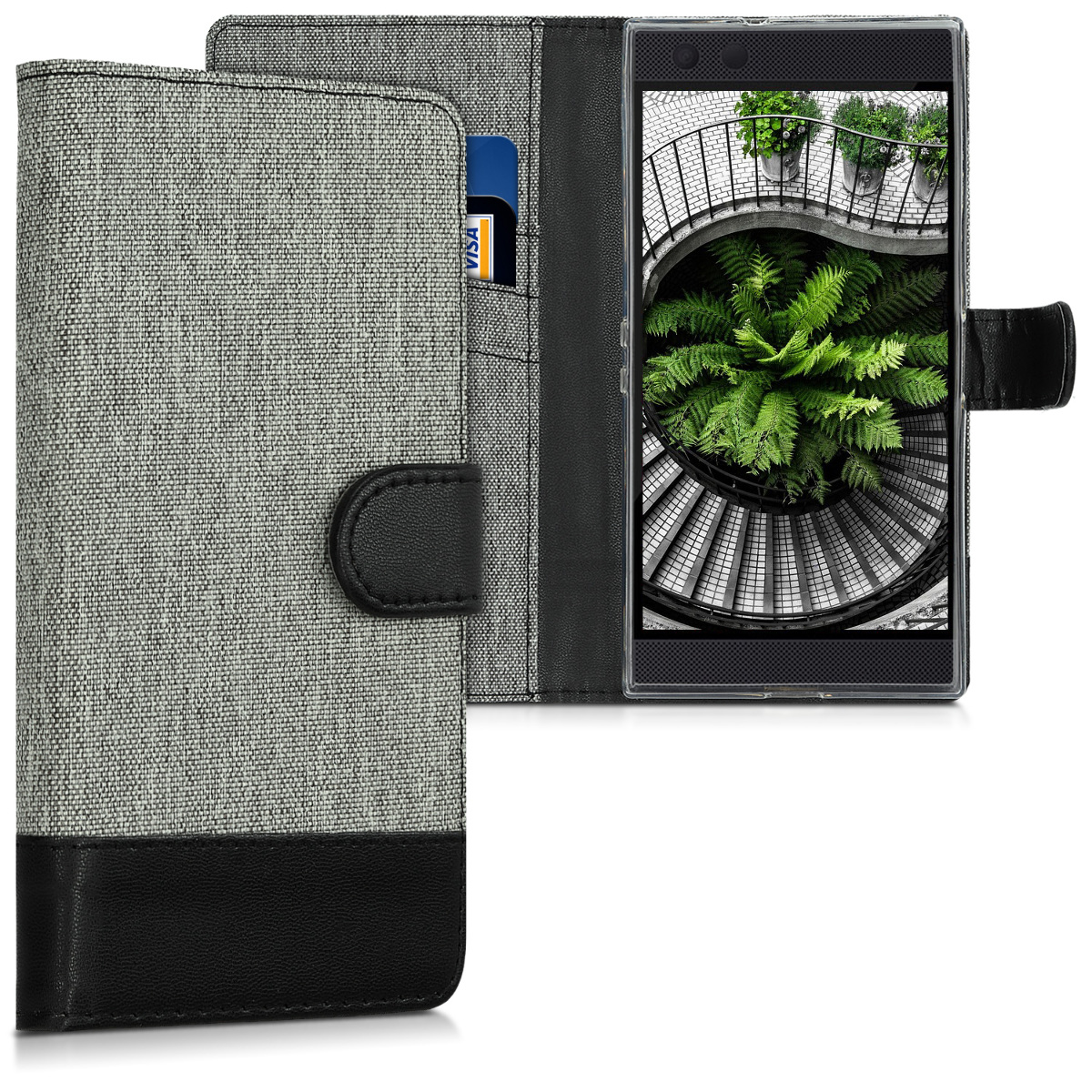 KW Θήκη-Πορτοφόλι Razer Phone 2 -  Grey / Black (46788.01)