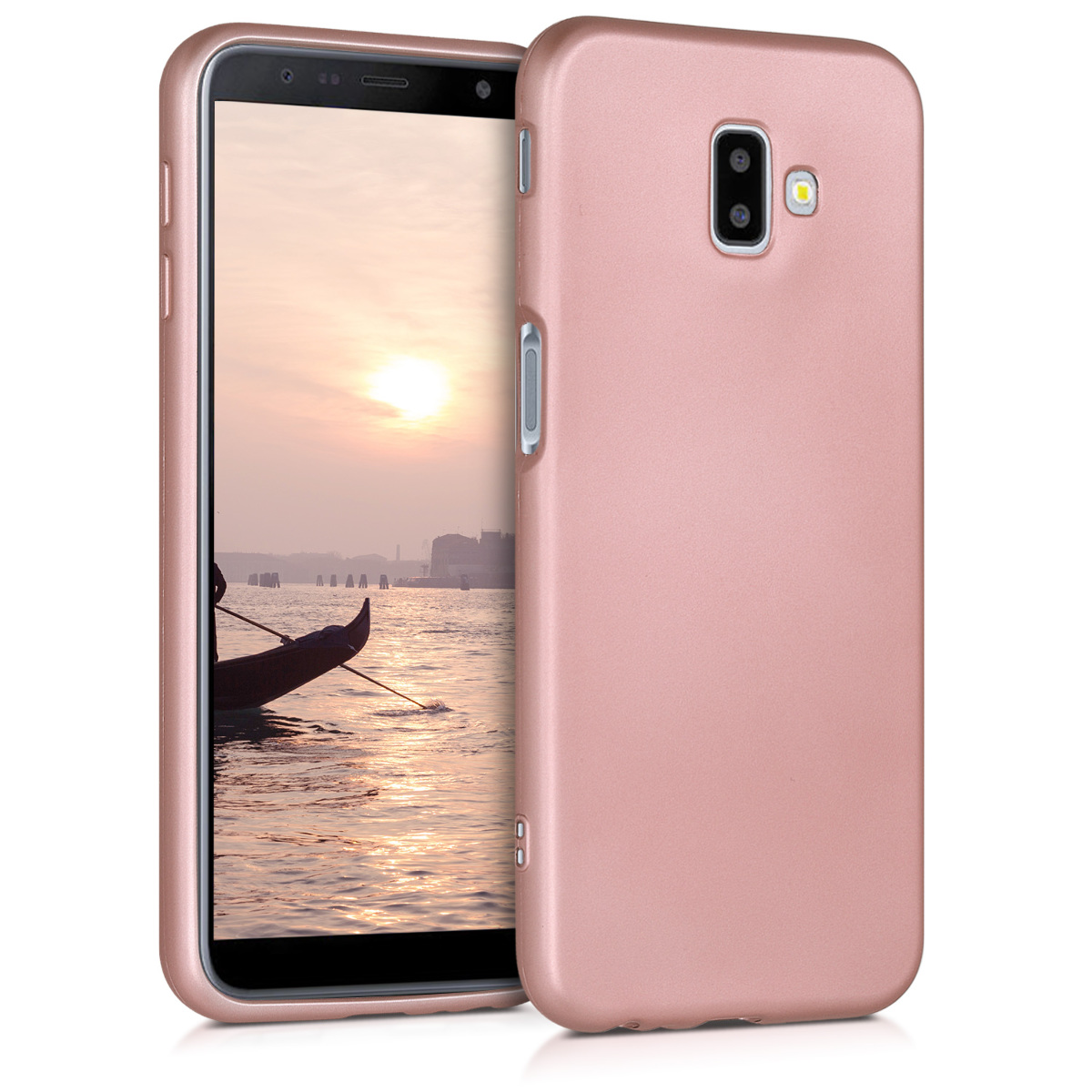 KW Θήκη Σιλικόνης Samsung Galaxy J6+ / J6 Plus DUOS - Soft Flexible Shock Absorbent  - Metallic Rose Gold (46838.31)