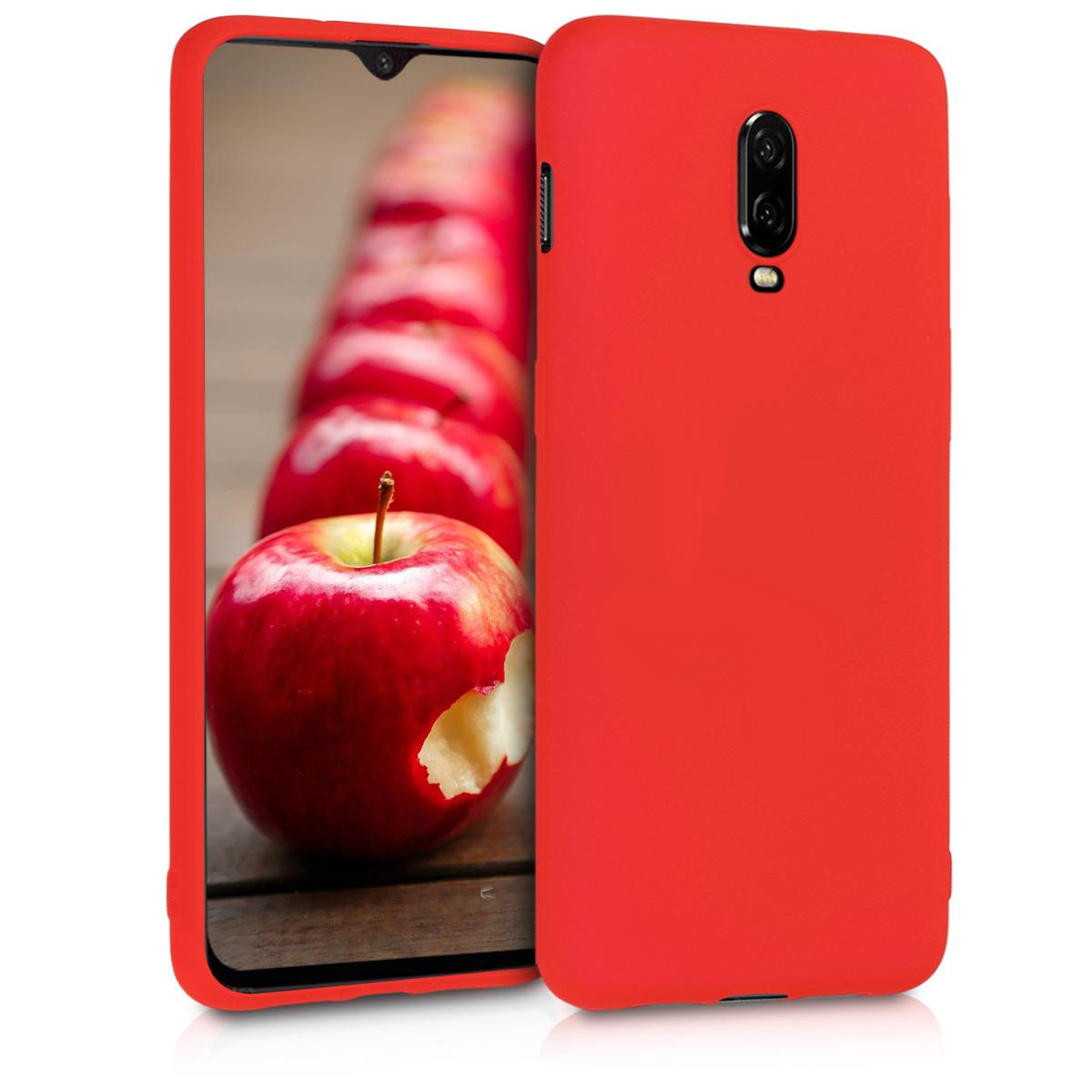 KW Θήκη Σιλικόνης OnePlus 6T - Neon Red (46890.111)