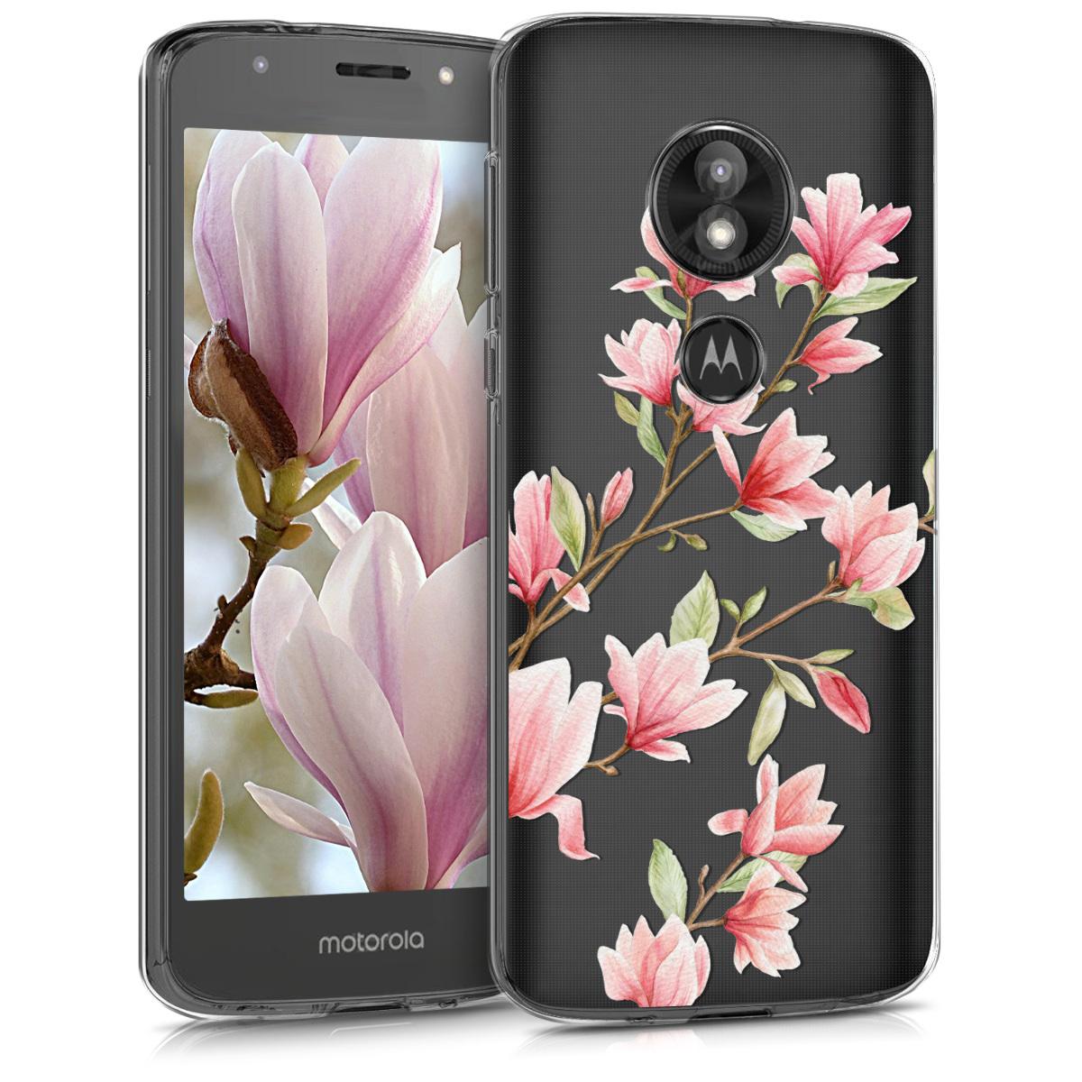 KW Θήκη Σιλικόνης Motorola Moto E5 Play - Light Pink / White / Transparent (46956.01)