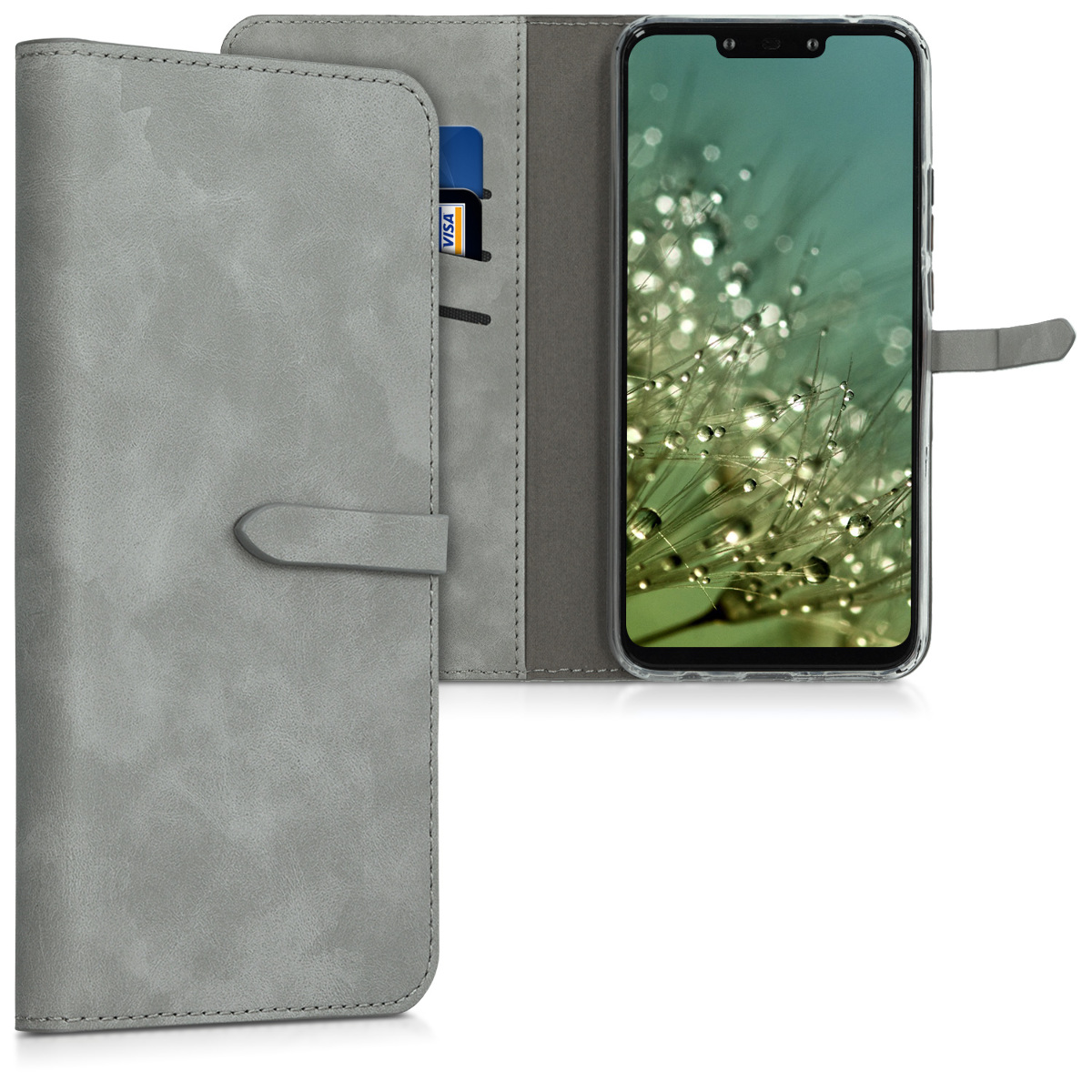 KW Θήκη Πορτοφόλι Huawei Mate 20 Lite - Grey (47007.22)