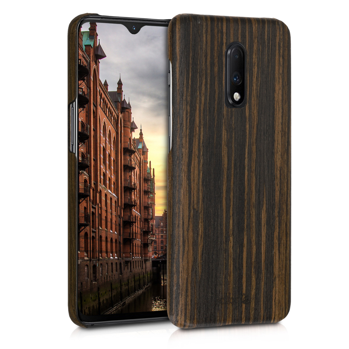 Kalibri Σκληρή Ξύλινη Θήκη OnePlus 7 - Brown (47041.18)