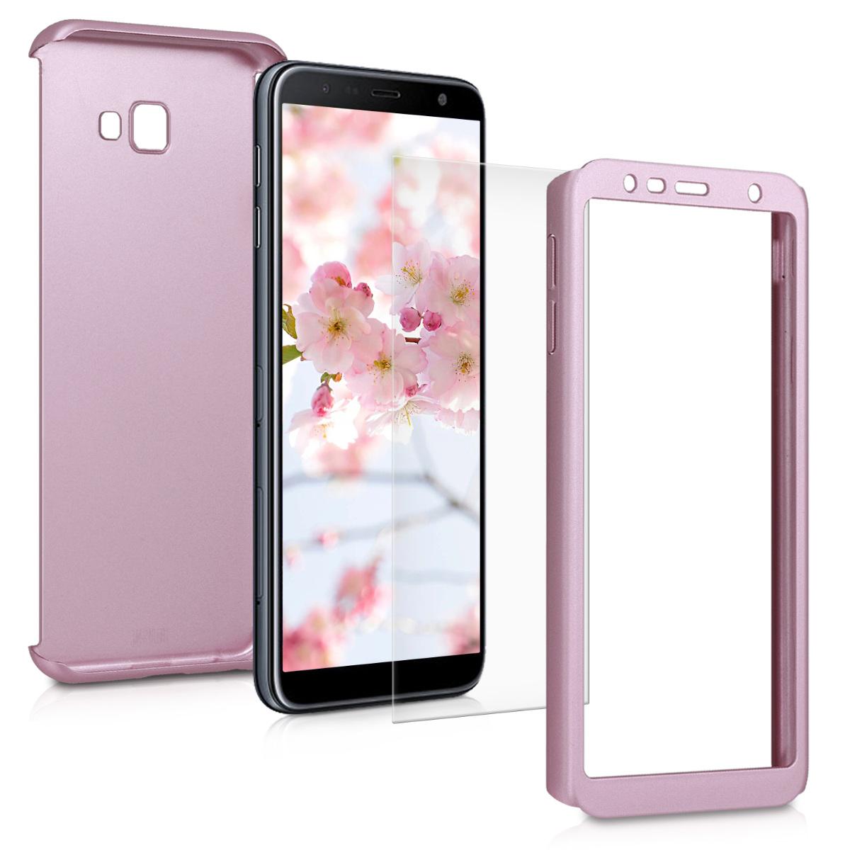 KW Θήκη Full Body Samsung Galaxy J4 Plus 2018 & Screen Protector - Metallic Rose Gold (47115.31)