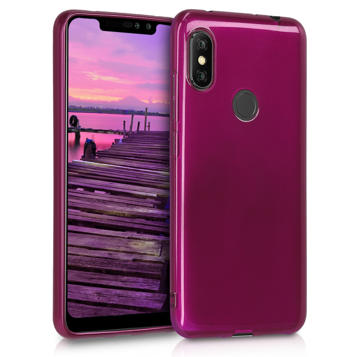 KW Θήκη Σιλικόνης Xiaomi Redmi Note 6 Pro - Purple High Gloss (47122.117)