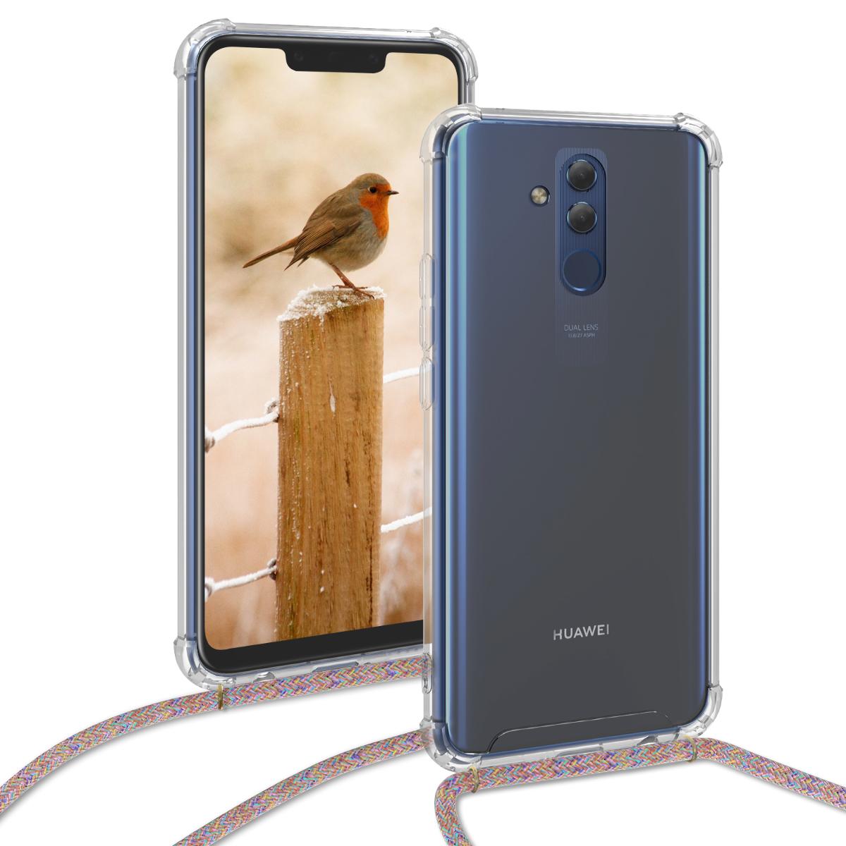 KW Θήκη Σιλικόνης με Λουράκι Λαιμού Huawei Mate 20 Lite - Transparent (47168.32)