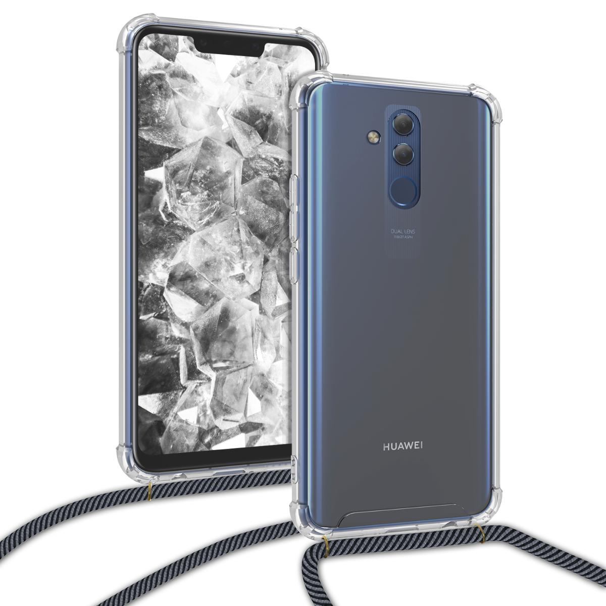 KW Θήκη Σιλικόνης με Λουράκι Λαιμού Huawei Mate 20 Lite - Transparent (47168.73)